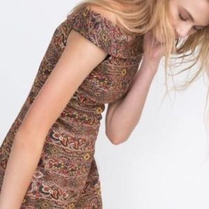 ZARA Multicolored Mini Dress - Size 6/EUR 28